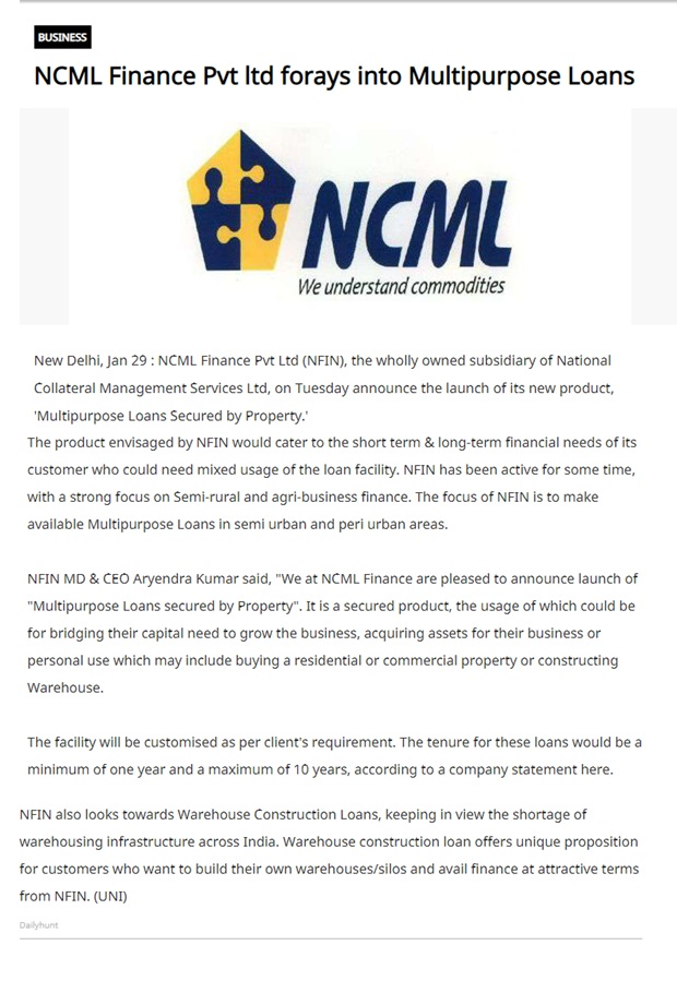 Welcome to NCML Finance